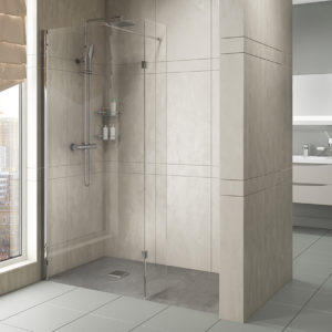 Wet Room Glass Panels with Profile