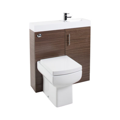 CubePlus Walnut WC Unit, Basin Unit & Basin ONLY