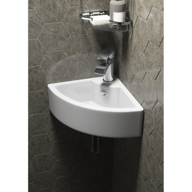 Contemporary Style Wall Hung Ceramic Vessel Basin 1 Tap Hole