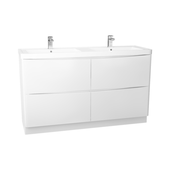 1400mm Bali Floor Standing 4 x Drawer Unit & Basin GW