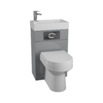 Futura Gloss Grey WC Basin Pack Montego BTW Pan (MON003) 1