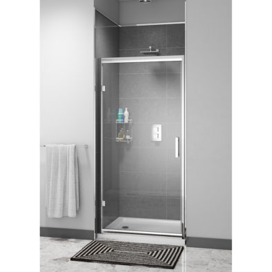 Easy Clean 800mm x 1850mm Hinged Door 6mm Glass  Cam and Dowel Fit