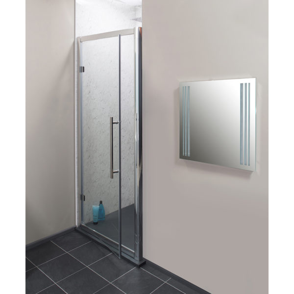 Easy Clean 760mm x 1950mm Hinged Door 8mm Glass Cam and Dowel Fit