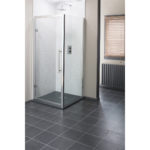 Easy Clean 800mm x 1950mm Hinged Door 8mm Glass Cam and Dowel Fit 1