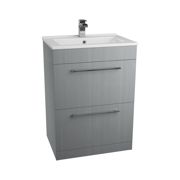 600mm x 427mm Free Standing 2 x Drawer Basin Unit