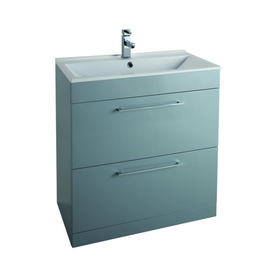 800mm x 427mm Free Standing 2 x Drawer Basin Unit
