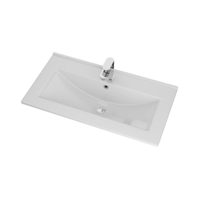Porcelain basin 18mm thickness Size: 815x435x185mm