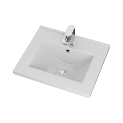 Porcelain basin 35mm thickness Size: 515x435x185mm