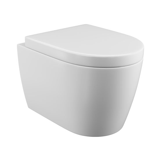 Loxley wall hung toilet pan and seat