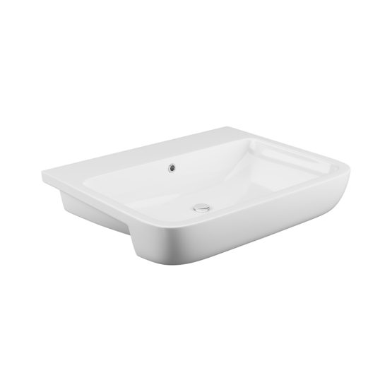 Rivelin semi recessed basin
