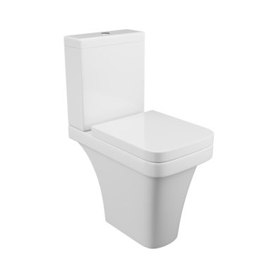 Rivelin Comfort height  toilet pan cistern and seat