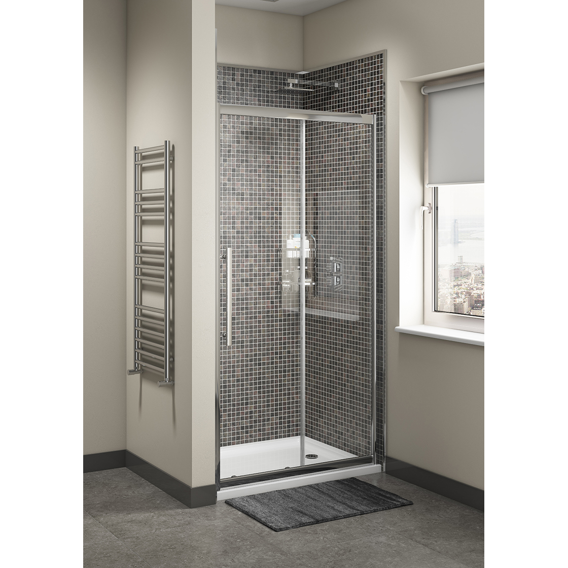 Cass Eight Sliding Shower Enclosure Door 1100mm Cassellie