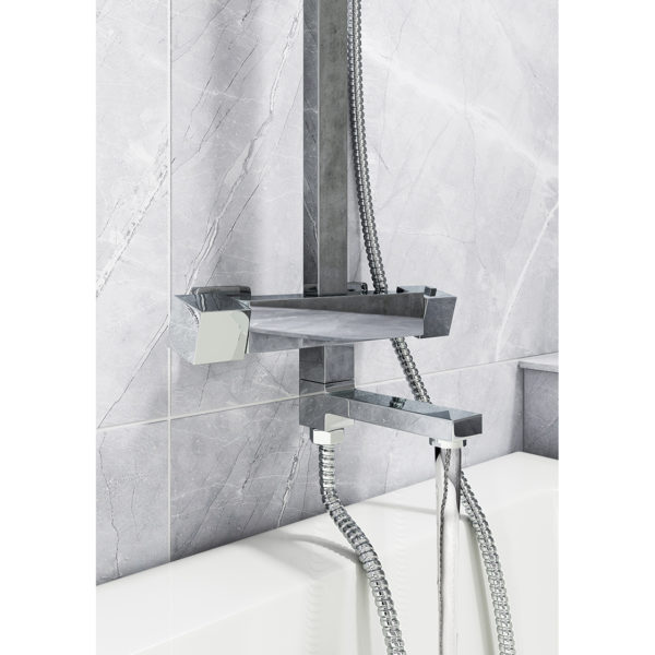 Square Style Thermostatic Shower Kit 3 Functions with Faucet
