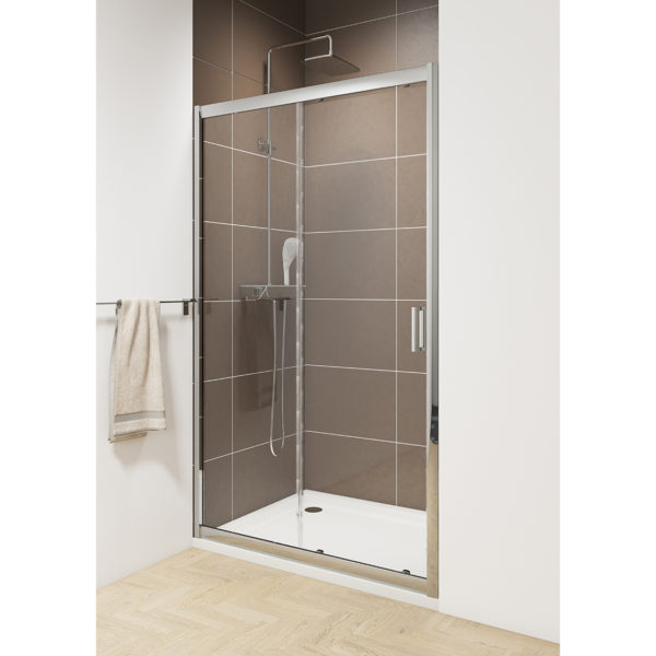 Sliding Door with Chrome Wheels 1600mm 6mm Glass