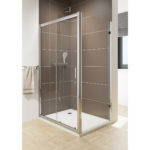 Sliding Door with Chrome Wheels 1600mm 6mm Glass 1