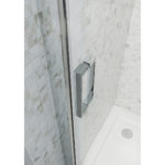 Sliding Door with Chrome Wheels 1700mm 6mm Glass 1