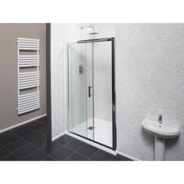 Easy Clean 1100mm x 1850mm Sliding Door 6mm Glass Cam and Dowel Fit