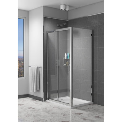 Easy Clean 700mm x 1850mm Side Panel 6mm Glass Cam and Dowel Fit
