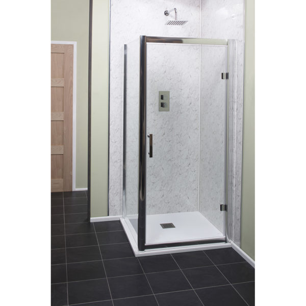 Easy Clean 760mm x 1850mm Side Panel 6mm Glass Cam and Dowel Fit
