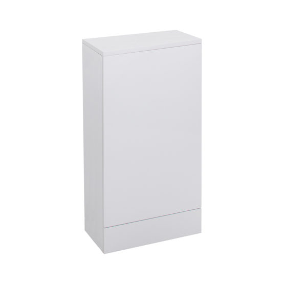 Colour: Gloss White Size: H780 x W410 x D215 Compact WC Unit with Lid- MFC PE