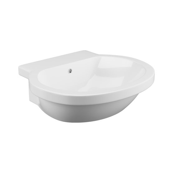 Wharfe semi recessed basin