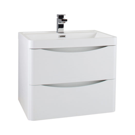 White Ash Wall Mounted Cabinet with Basin