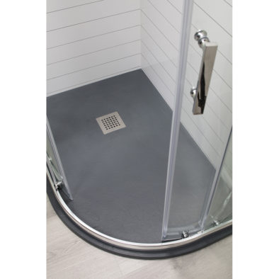 LH 1200x900 Quad shower tray Colour:Anthracite R:550 & waste